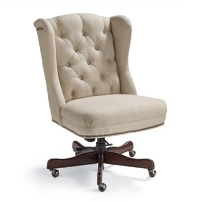 Frontgate.com | Andover Executive Office Chair, Linen | Item 103547 | 699.00 (leather, 899.00)