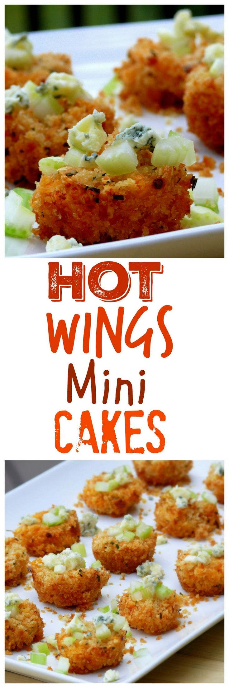 VIDEO + Recipe: HOT WING MINI CAKES are the perfect appetizer bites full of chicken, sauce and all the hot wing goodness. The panko crust emulates the crispy wings you love from NoblePig.com. via @cmpollak1