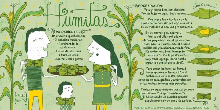 Cositas Ricas Ilustradas por Pati Aguilera - Humitas - Chile