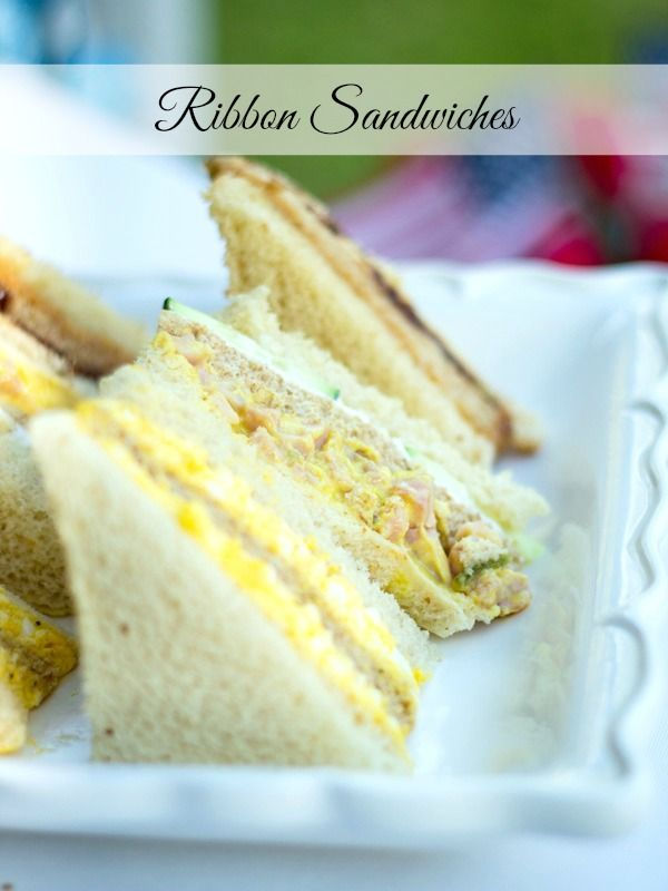 ribbon sandwiches like our mothers made