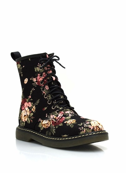 floral combat boots - I like these more than is really reasonable.
