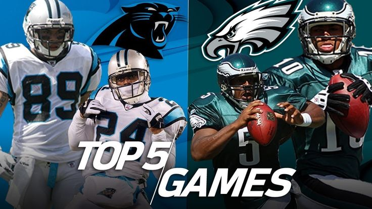 awesome Top 5 Eagles vs. Panthers Games All-Time | NFL Highlights