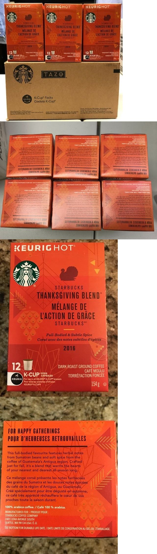 Coffee Pods and K-Cups 79630: Nib Starbucks Thanksgiving Blend K Cup - Case Of 6 Boxes-72 Count- April 2017 -> BUY IT NOW ONLY: $55 on eBay!