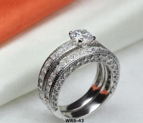 ROUND CUT CZ 925 STERLING SILVER ENGAGEMENT RING SET WEDDING RING SET WRS-43-BLH | eBay