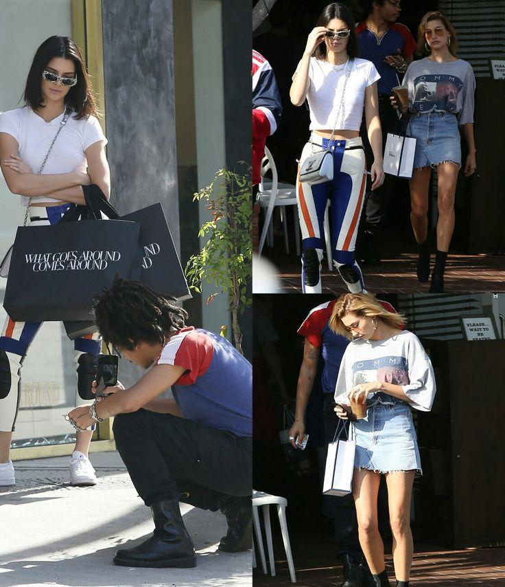 #KendallJenner, #HaileyBaldwin, and #LukaSabbat enjoyed some retail therapy in LA! • • • • • #KendallJenner, #HaileyBaldwin e #LukaSabbat curtiram uma terapia de compras em LA!