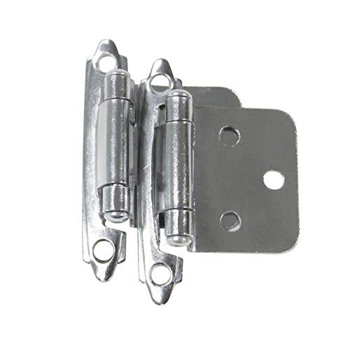 2 X Probrico Soft Self Close Kitchen Cabinet Hinges Polished Chrome Furniture Cupboard Door Hinge CH197PC
