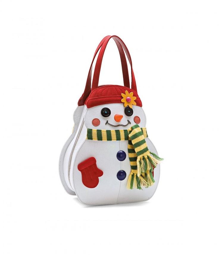 #snowman #bag #braccialini   Borsa Temi pupazzo di neve
