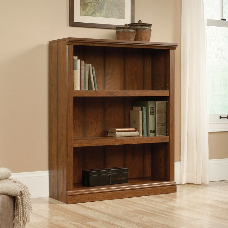 Sauder 3 Shelf Bookcase Cherry Best