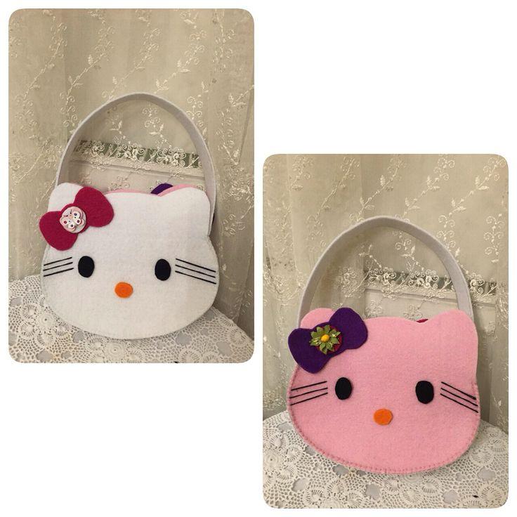 bag, felt bag, hello kitty, feltro