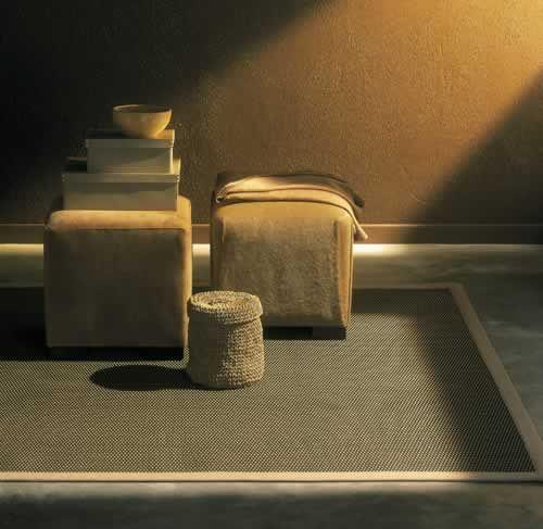 Een mooi voorbeeld hoe randafwerking dit #karpet een perfecte sfeer geeft! #flooring #vloeren #design
