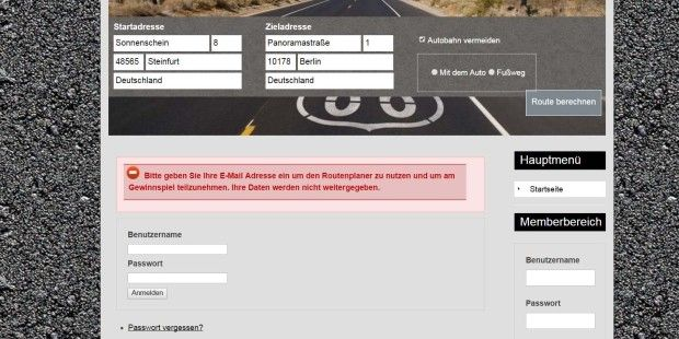maps-routenplaner.info: Abo-Falle kostet 500 Euro-Wer auf routenplaner-maps.online nach einer Route sucht, soll 500 Euro zahlen. Mit Gerichtsverfahren und Inkasso-Büro wird gedroht. Eine fiese Abo-Falle.