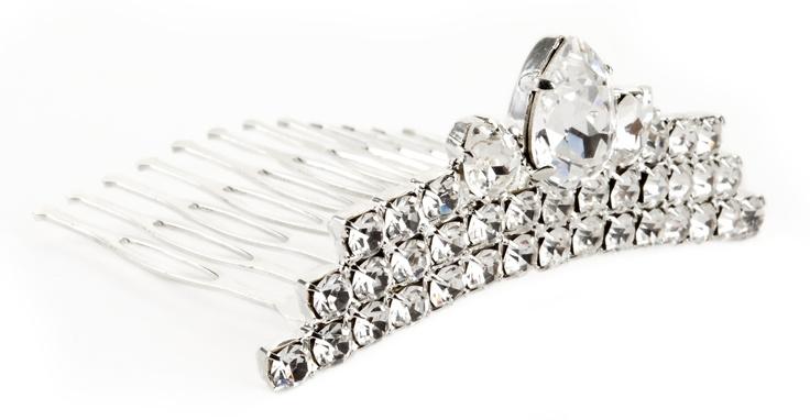 Silver plated comb, Swarovsky Crystal// Pettine in ottone argentato e strass Swarovsky Crystal € 36,00  #wedding #bride #hair
