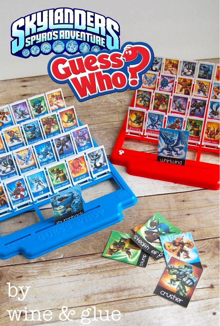 Skylanders Guess Who | Make a Guess Who game with your kid's favorite characters! via www.wineandglue.com
