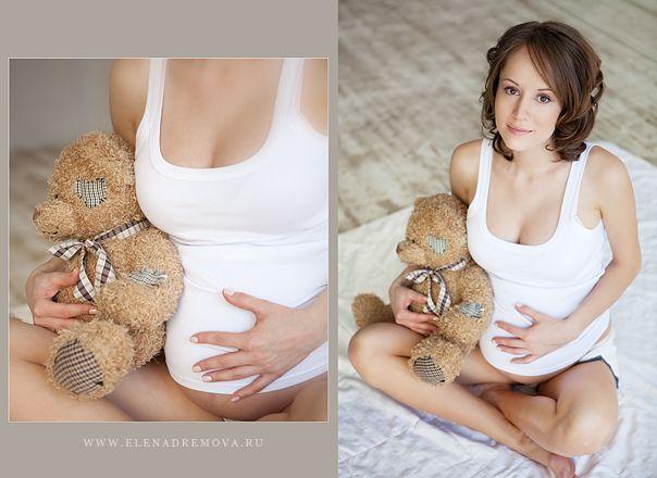 Fotografía de Embarazada con peluche