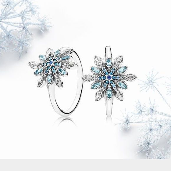 Pandora Crystalized snowflake ring. Pick ur size New pandora ring. Other sizes available just ask Pandora Jewelry