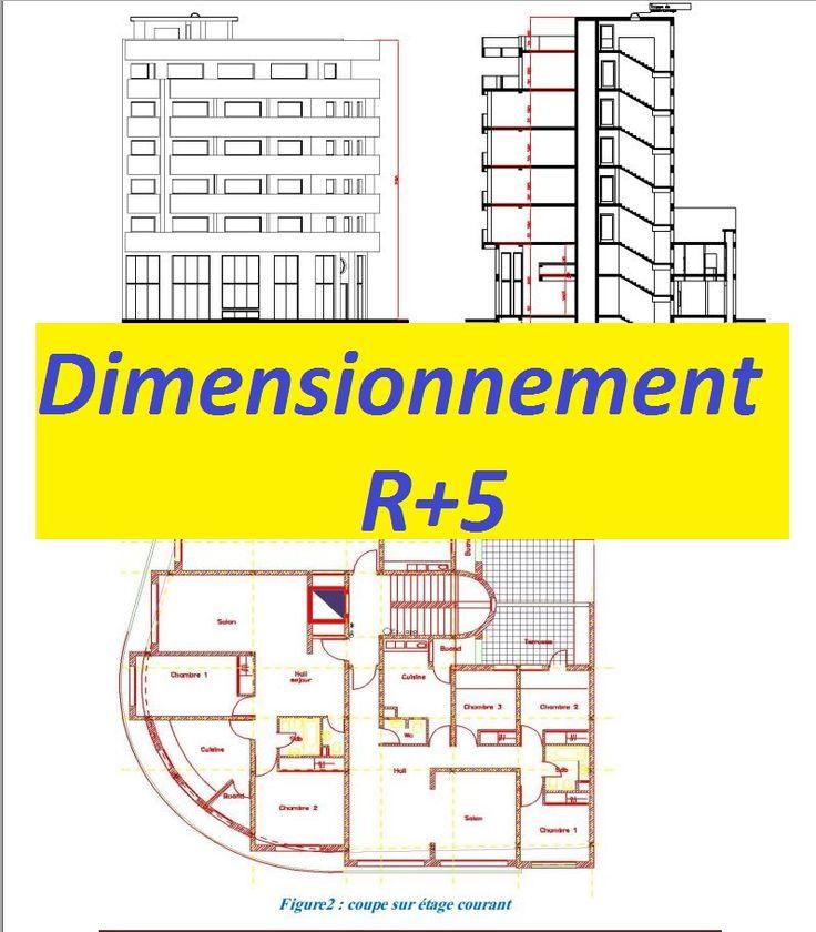 Dimensionnement R+5 avec excel et plans autocad - Rapport de stage