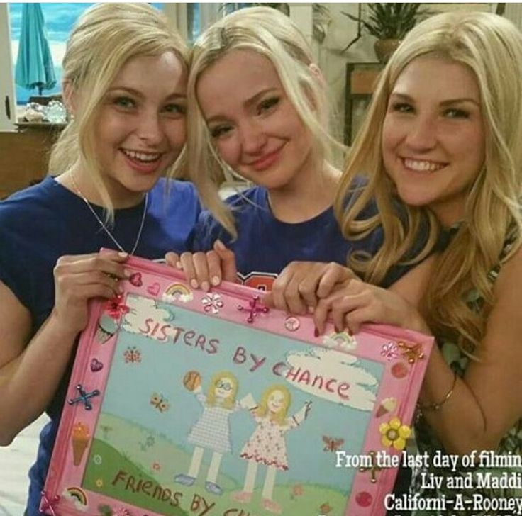 Dove cameron and her doubles in liv and maddie !!! So devastated that the show is finished