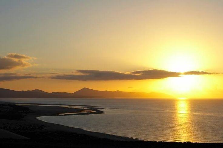 Comienza otro hermoso dia en Sotavento. Fuerteventura.