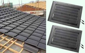 Solar roof shingles _ Solar tile _ PV tile _ Solar roof tiles