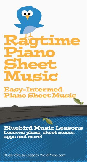 Ragtime Piano Sheet Music for Easy-Intermediate Solo (Digital Print)