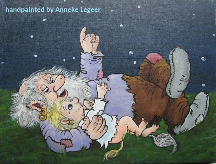 """"""" Stjärnhimmel """", handpainted by Anneke Legeer, the Netherlands, naar voorbeeld van Rolf Lidberg. Maart 2013"""