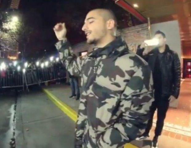 Maluma cantó en la calle tras la cancelación de su show en el Luna Park - El Ancasti Editorial