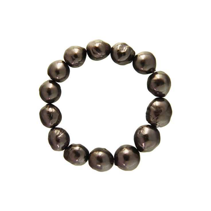 Βραχιόλι με μαύρα μαργαριτάρια - M122354B
