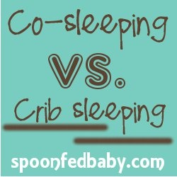 co sleeping vs. crib sleeping, I personally like co sleeping for the first few months, our little gal is in bed with us until she doesnt wake to feed at night :)