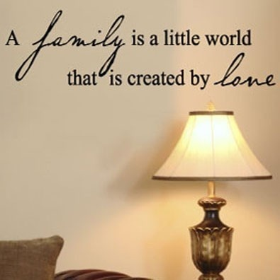 A Family Is A Little World That Is Created By by VinylLettering, $9.99