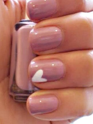 Heart on my nail for the wedding