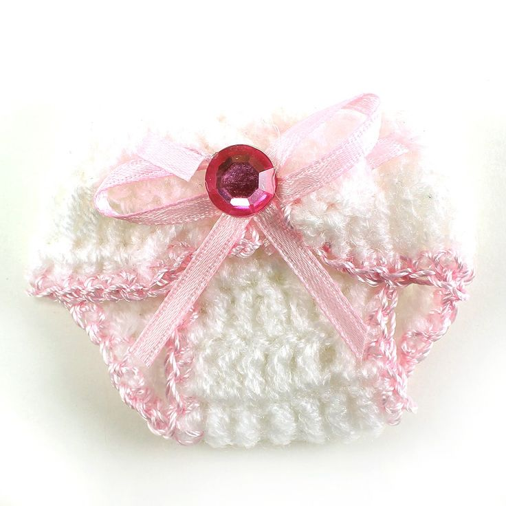 "Knit Crochet Baby Diaper Baby Shower Decoration Favor 2.5"" (pack of 12)"