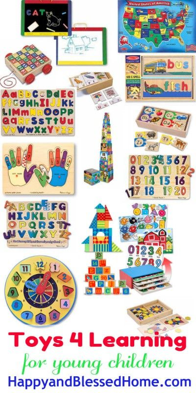 Over 50 Toys for Learning including recommendations for boys, girls, toddlers and babies from HappyandBlessedHome.com | preschool education | teaching tools | learning toys | wood toys | toy recommendations