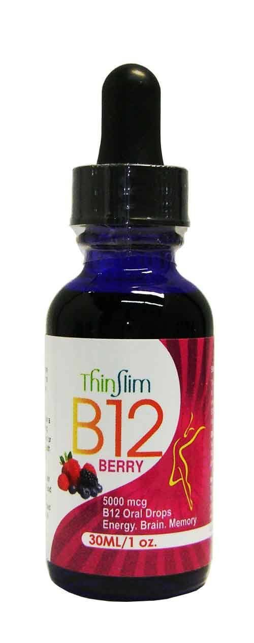 *ThinSlim Health - B12 Drops 5000 mcg - 1 oz Bottle