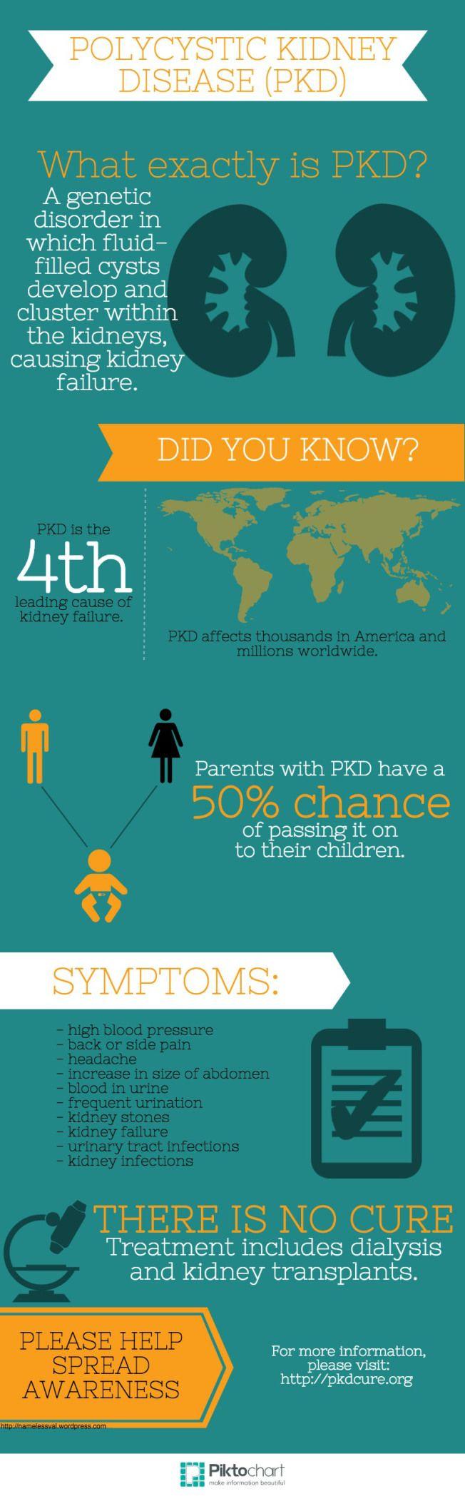 Polycystic Kidney Disease (PKD) #PKD #PKDAwarenessDay #infographic