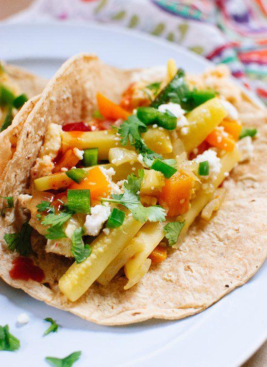 Healthy vegetarian breakfast tacos! cookieandkate.com