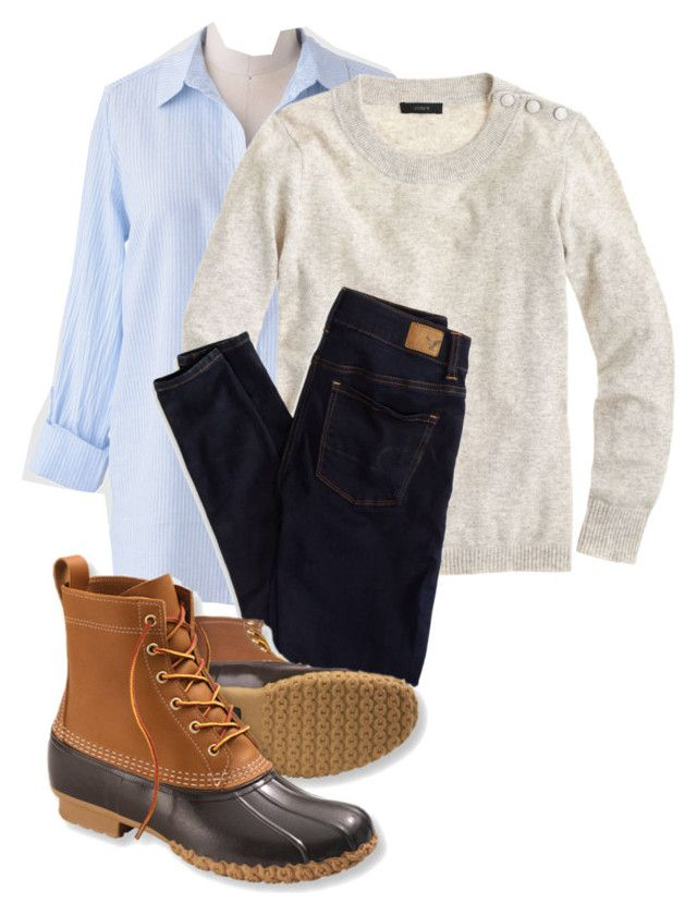 """When you want to wear bean boots but it's still summer"" by preppyyankee on Polyvore"