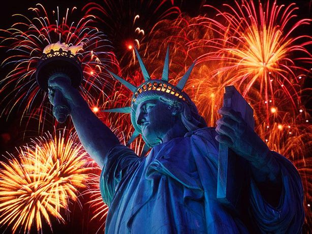 All World Visits: Statue Of Liberty Fireworks in America