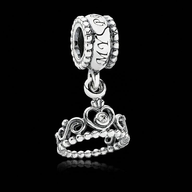 Pandora Charm Clear CZ Sterling Silver. Pretty #curvykate #myvalentineswishlist