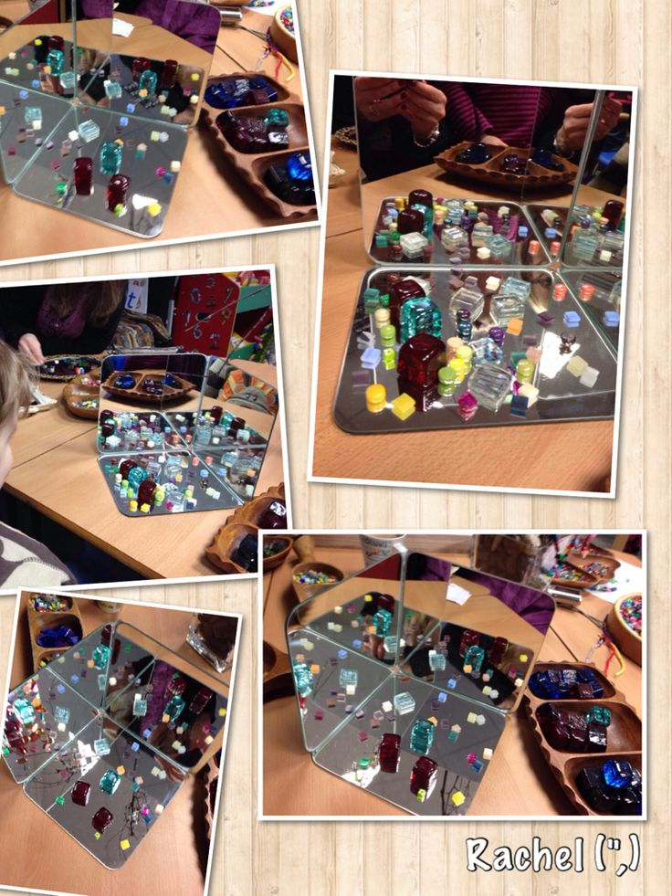 """Home-made mirror 'box' play - from Rachel ("""",)"""