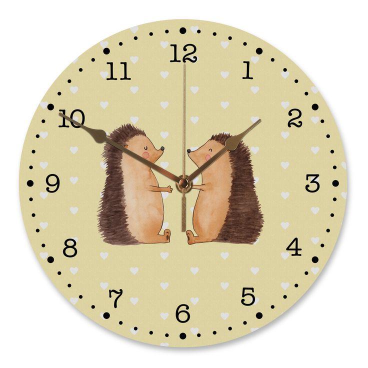 30 cm Wanduhr Igel Liebe aus MDF  Weiß - Das Original von Mr. & Mrs. Panda.  Diese wunderschöne Uhr von  Mr. & Mrs. Panda wird liebeveoll in unserem Hause bedruckt und an sie versendet. Sie ist das perfekte Geschenk für kleine und große Kinder, Weltenbummler und Naturliebhaber. Sie hat eine Grösse von 30 cm und ein absolut LAUTLOSES Uhrwerk.    Über unser Motiv Igel Liebe  Das Gefühl verliebt zu sein und seinen Verbündeten gefunden zu haben ist unbezahlbar.  Die verliebten Igelchen…