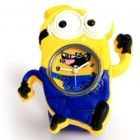 Cartoon Lover Gift : Animation Movie – Despicable Me 2 Minion Running Dave Watch Wristband Silicone Wrist Strap (Blue)