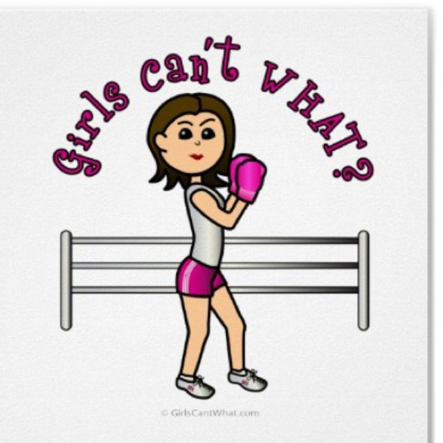Boxing, girls can do it too!