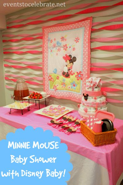 Minnie Mouse Baby Shower   Themed Decorations, Food And Fun Games With  Disney Baby Products