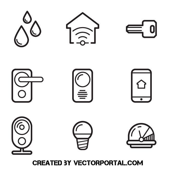 Smart Home Icons Vector Clip Art Home Icon Icon Clip Art