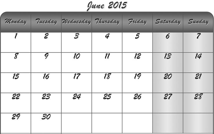 Download Blank June 2015 Calendar Printable Template, Word, Excel, Pdf and Doc. Also Download Printable June 2015 Calendar With Holidays UK, USA, NZ.