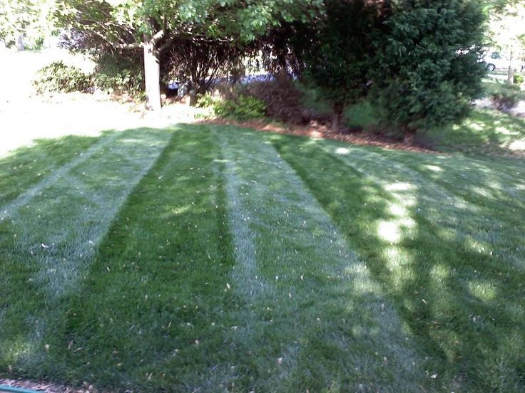 Homemade lawn striping kit for commercial mowers.