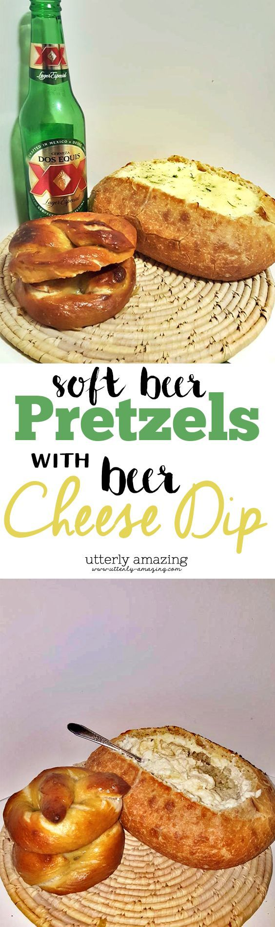 Soft Beer Pretzels And Beer Cheese Dip With Dos Equis | #WhatsYourPlay #SuperBowl |