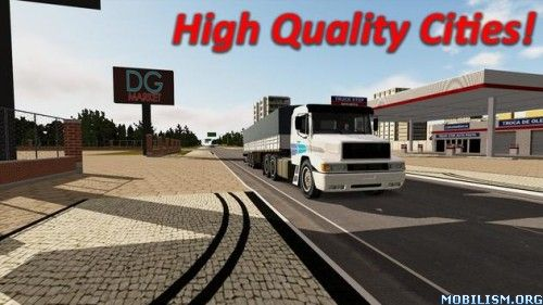 "Heavy Truck Simulator v1.851 (Mod Money)Requirements: Android 2.3.2+Overview: Be the King of Road in ""Heavy Truck Simulator"" Features:– Beautiful Brazilians locations;– Many Trucks, from the old to the newest ones! (more..."