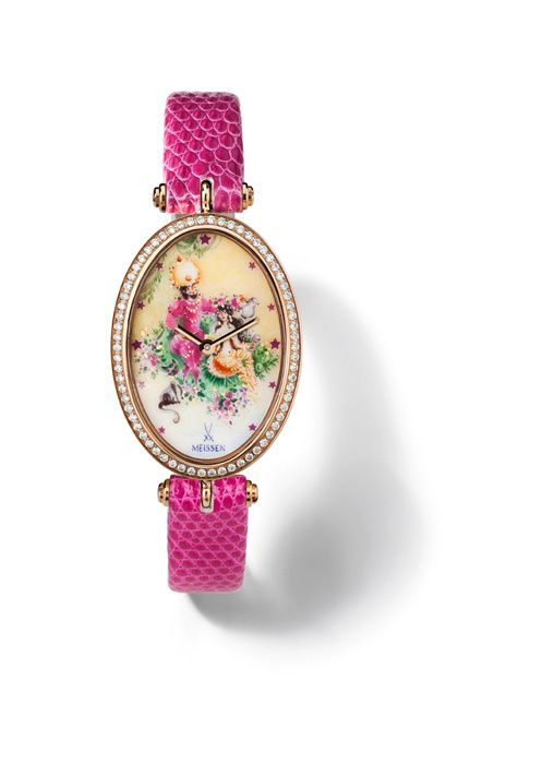 "MEISSEN® Joaillerie Timepiece, Arabian Nights ""Flying Carpet"", pavé"
