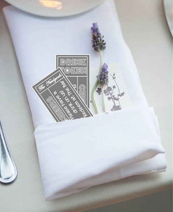 Printable Drinks Token/Tickets - Wedding Reception Drinks tickets - Easy wedding DIY - PDF - Wedding Drinks - Tickets - Tokens - Printable